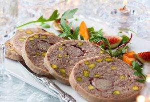 duck and pistachio terrine