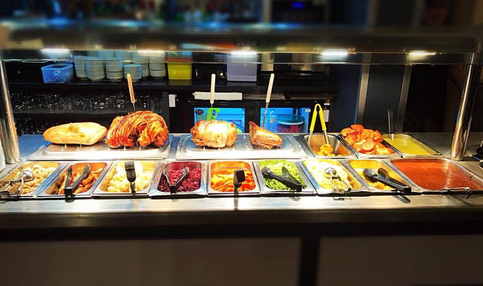The Carvery Station at The Boars Head in Derbyshire